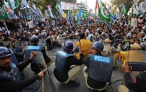Protest in Lahore, Jan 30 2011