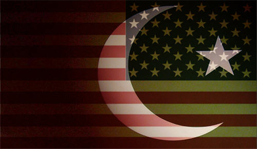 USA-Pakistan Flags